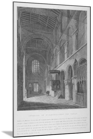 Interior View of the Church of St Bartholomew-The-Great, Smithfield, City of London, 1814-Joseph Skelton-Mounted Giclee Print