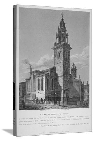 View of the Church of St James Garlickhythe, City of London, 1813-Joseph Skelton-Stretched Canvas Print
