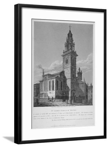 View of the Church of St James Garlickhythe, City of London, 1813-Joseph Skelton-Framed Art Print