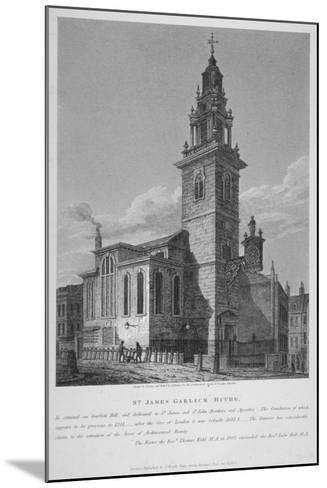 View of the Church of St James Garlickhythe, City of London, 1813-Joseph Skelton-Mounted Giclee Print