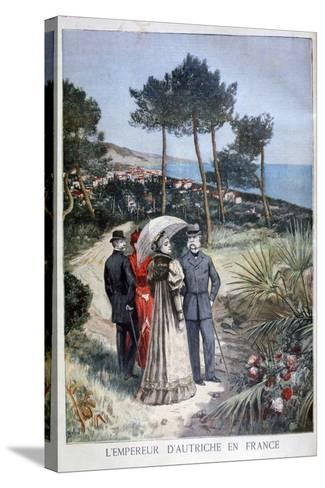 Franz Joseph I, Emperor of Austria, on a Visit to France, 1894-Jose Belon-Stretched Canvas Print