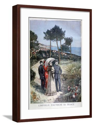 Franz Joseph I, Emperor of Austria, on a Visit to France, 1894-Jose Belon-Framed Art Print