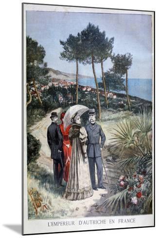 Franz Joseph I, Emperor of Austria, on a Visit to France, 1894-Jose Belon-Mounted Giclee Print