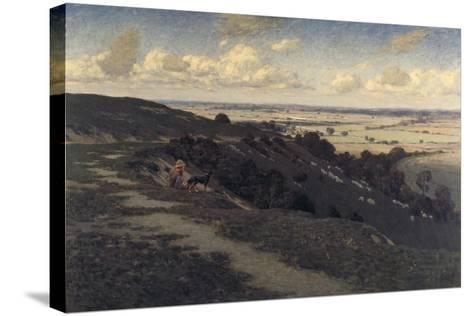 Bury Hill and Village with a View of the North Downs, C1879-1919-Jose Weiss-Stretched Canvas Print
