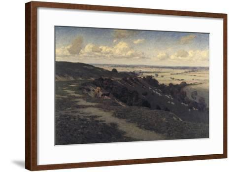 Bury Hill and Village with a View of the North Downs, C1879-1919-Jose Weiss-Framed Art Print