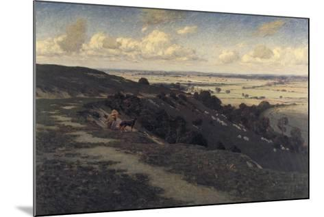 Bury Hill and Village with a View of the North Downs, C1879-1919-Jose Weiss-Mounted Giclee Print