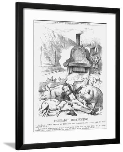Pigheaded Obstruction, 1877-Joseph Swain-Framed Art Print