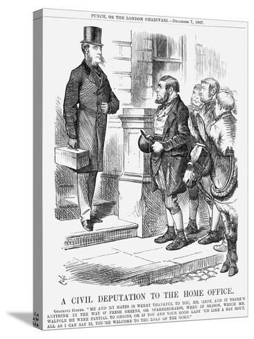 A Civil Deputation to the Home Office, 1867-John Tenniel-Stretched Canvas Print