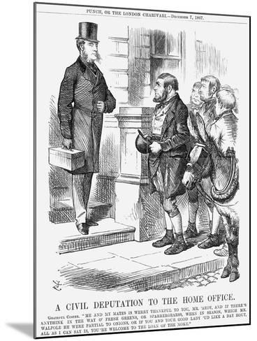A Civil Deputation to the Home Office, 1867-John Tenniel-Mounted Giclee Print