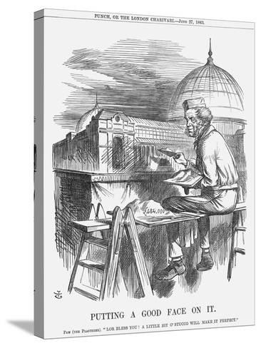 Putting a Good Face on It, 1863-John Tenniel-Stretched Canvas Print