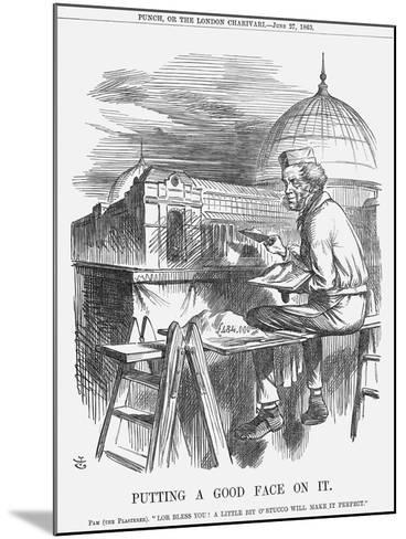 Putting a Good Face on It, 1863-John Tenniel-Mounted Giclee Print