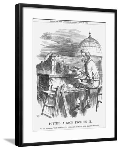 Putting a Good Face on It, 1863-John Tenniel-Framed Art Print