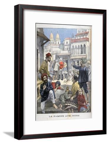 Famine in the India, 1900-Joseph Belon-Framed Art Print
