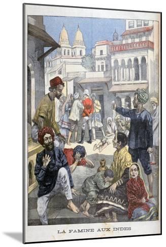 Famine in the India, 1900-Joseph Belon-Mounted Giclee Print