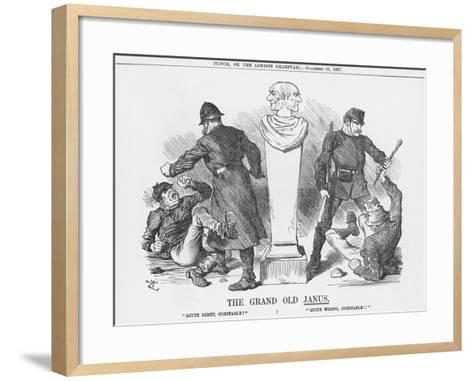 The Grand Old Janus, 1887-Joseph Swain-Framed Art Print