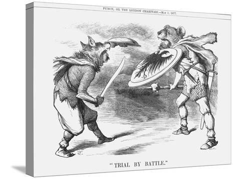 Trial by Battle, 1877-Joseph Swain-Stretched Canvas Print