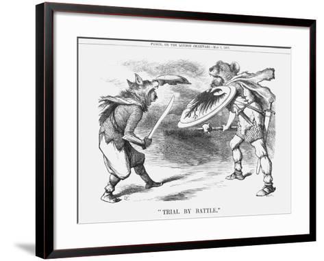 Trial by Battle, 1877-Joseph Swain-Framed Art Print