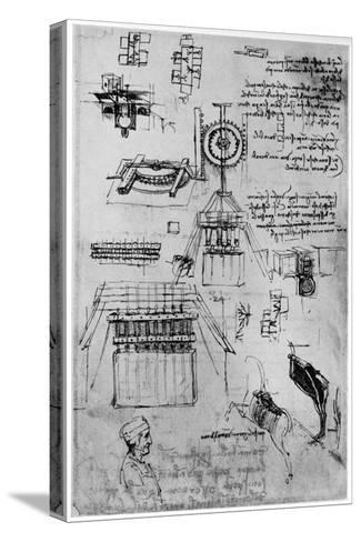 Study for the Casting of the Sforza Monument, C1493-Leonardo da Vinci-Stretched Canvas Print