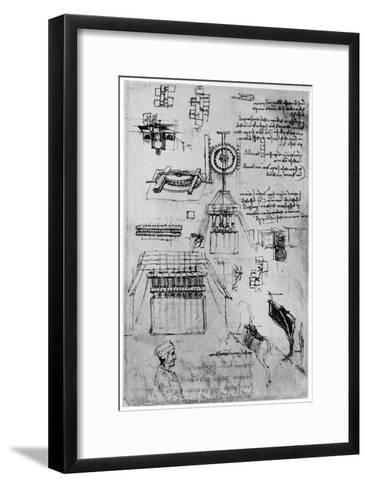 Study for the Casting of the Sforza Monument, C1493-Leonardo da Vinci-Framed Art Print