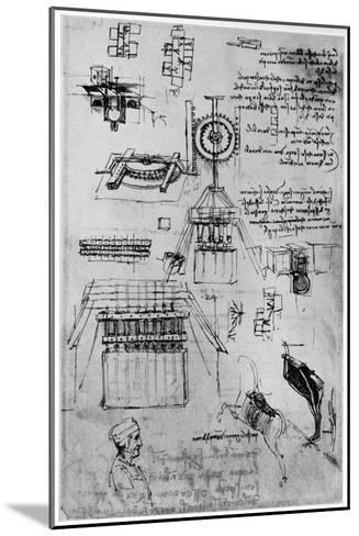 Study for the Casting of the Sforza Monument, C1493-Leonardo da Vinci-Mounted Giclee Print