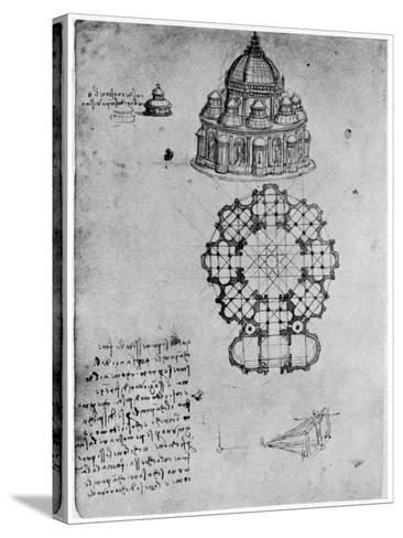 Designs for a Central Church, C1488-Leonardo da Vinci-Stretched Canvas Print