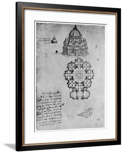 Designs for a Central Church, C1488-Leonardo da Vinci-Framed Art Print