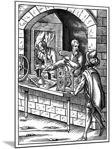 The Clockmaker, 16th Century-Jost Amman-Mounted Giclee Print