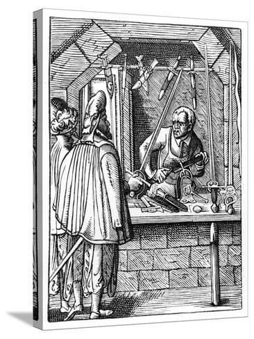 Sword Maker, C1559-1591-Jost Amman-Stretched Canvas Print