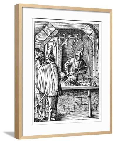Sword Maker, C1559-1591-Jost Amman-Framed Art Print