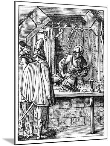 Sword Maker, C1559-1591-Jost Amman-Mounted Giclee Print