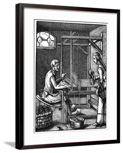 The Weaver, 16th Century-Jost Amman-Framed Art Print