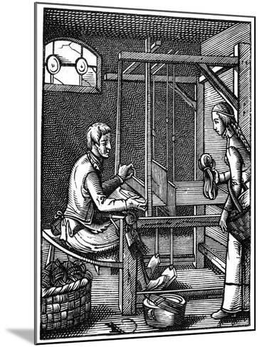 The Weaver, 16th Century-Jost Amman-Mounted Giclee Print