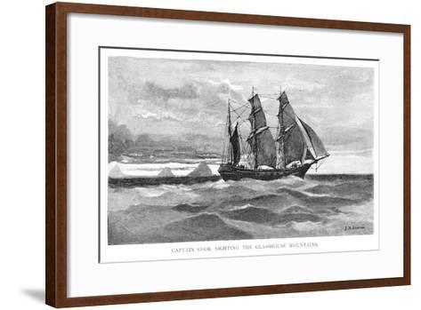 Captain Cook Sighting the Glasshouse Mountains, 1770-Julian Ashton-Framed Art Print
