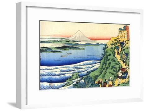 From the Series Hundred Poems by One Hundred Poets: Yamabe No Akahito, C1830-Katsushika Hokusai-Framed Art Print