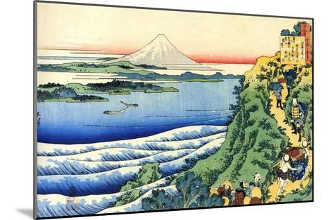 From the Series Hundred Poems by One Hundred Poets: Yamabe No Akahito, C1830-Katsushika Hokusai-Mounted Giclee Print