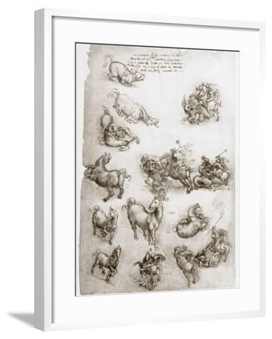 St George and the Dragon, C1506-Leonardo da Vinci-Framed Art Print