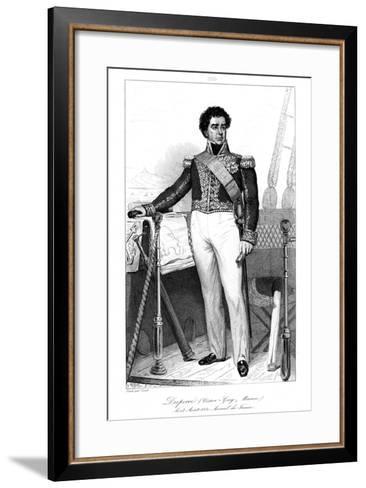 Guy-Victor Duperre (1775-184), French Admiral, 1839-Julien Leopold Boilly-Framed Art Print