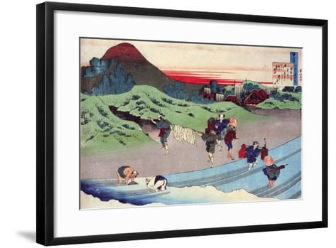From the Series Hundred Poems by One Hundred Poets: Jito Tenno, C1830-Katsushika Hokusai-Framed Art Print