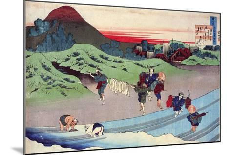 From the Series Hundred Poems by One Hundred Poets: Jito Tenno, C1830-Katsushika Hokusai-Mounted Giclee Print