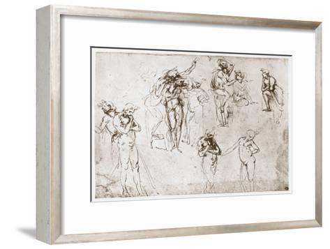 The Adoration of the Kings, C1481-Leonardo da Vinci-Framed Art Print
