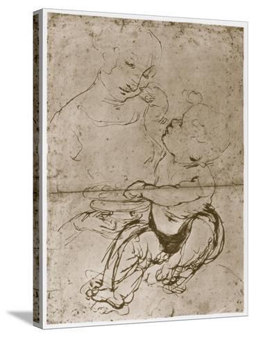Madonna with the Fruit-Plate, 1480-82-Leonardo da Vinci-Stretched Canvas Print