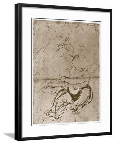 Madonna with the Fruit-Plate, 1480-82-Leonardo da Vinci-Framed Art Print