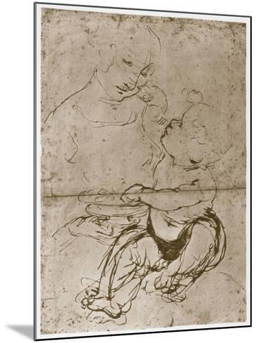 Madonna with the Fruit-Plate, 1480-82-Leonardo da Vinci-Mounted Giclee Print