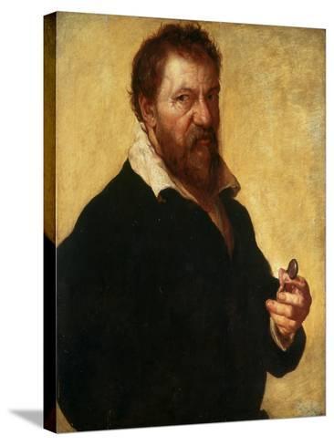 Self-Portrait, 1566-Lambert Lombard-Stretched Canvas Print