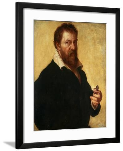Self-Portrait, 1566-Lambert Lombard-Framed Art Print