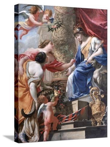 'Vénus Et L'Amour' C1535-1560-Lambert Sustris-Stretched Canvas Print