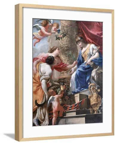'Vénus Et L'Amour' C1535-1560-Lambert Sustris-Framed Art Print