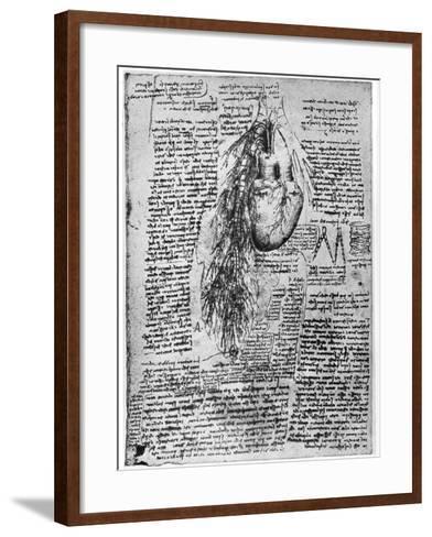 Study of the Heart and the Bronchial Arteries, Late 15th or Early 16th Century-Leonardo da Vinci-Framed Art Print
