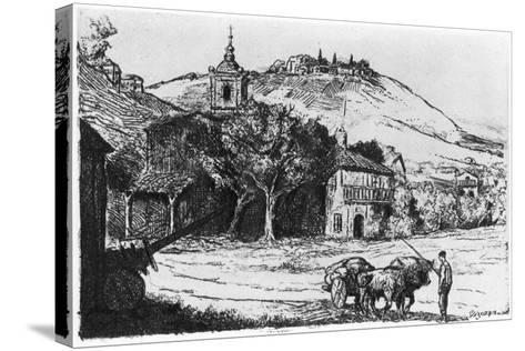 Village En Biscaye, 1924-JP Tillac-Stretched Canvas Print