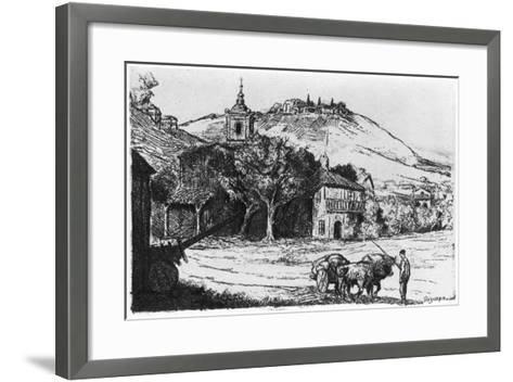 Village En Biscaye, 1924-JP Tillac-Framed Art Print